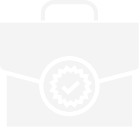 Briefcase with a checkmark